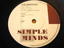 """SIMPLE MINDS - THE AMERICAN  7"""" VINYL"""