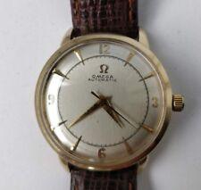 Original Vintage Men's Omega 1950's Gold Filled Bumper Watch - Rare