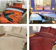 Satin Bettwäsche 135x200  100% Baumwolle Bettbezug Bettwaren 2 tlg 4 tlg