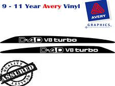 D4D V8 TURBO Decal Sticker For Toyota LANDCRUISER 76 70 78 79 Ser Bonnet scoop