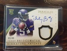 2014 IMMACULATE TEDDY BRIDGEWATER RC PATCH AUTO 9/49