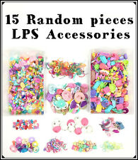 1 Bag Littlest Petshop Lot 15 Random Accessories Clothes, Food, Skirt Pet Shop