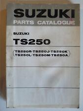 Parts Catalogue - Suzuki TM 250 R / J / K / L / M / A, 4.1975, english, Original