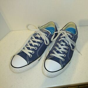 CONVERSE ALL STAR UNISEX SNEAKERS ~ BLUE ~ MENS SIZE 9 / WOMENS SIZE 11 ~LOW CUT