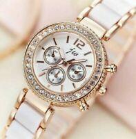 Women's/Ladies Diamond Crystal Stainless Steel Bracelet Dial Quartz Wrist Watch