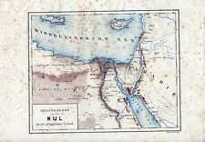 Antique map Landkaart river Nijl Nile Nilo Nil  1881