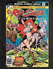 Red Sonja #1 ~ (Robert E. Howard) (B) ~ 1977 (Grade 9.2) Wh
