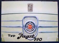 NSU / FIAT JAGST 770 SALES BROCHURE C 1965? (GERMAN).