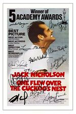 CAST - ONE FLEW OVER THE CUCKOO'S NEST SIGNED PHOTO PRINT AUTOGRAPH