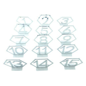 Table Numbers Seat Card Roman Numerals Wedding Party Centerpiece Decor