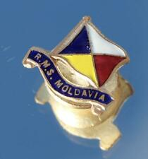P&O ORIENT LINE RMS MOLDAVIA UNUSUAL MINIATURE LAPEL BADGE