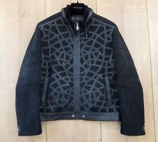 VERSACE COUTURE LEDERJACKE XL 54 gianni leather jacket black