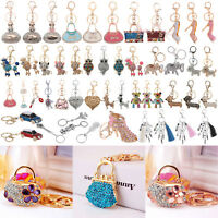 Fashion Crystal Rhinestone Keyring Keychain Charm Pendant Bag Car Key Chain Ring