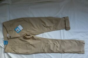 NWT Tan COLUMBIA ONMI SHADE UPF 50 Pilsner Peak Opt. Roll Up Pants 4 Short