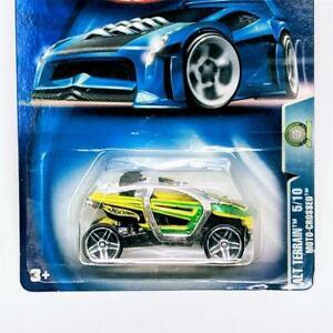 2003 Hot Wheels Alt Terrain 5/10 Moto-Crossed UTV ATV SxS Chrome Green PR5 57148