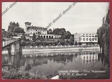 MILANO CASSANO D'ADDA 18 VILLA GABBIONETA E.N.A.L. LINIFICIO Cartolina viag 1953