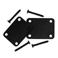 NEW One Black Electric Guitar Neck Plate & Screws for Strat Tele Style Guitar