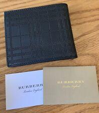 Burberry Men's Black Textured Leather Bifold Wallet