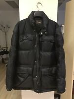 Cole Haan Men's Lined Quilted Winter Jacket, Black, Size M