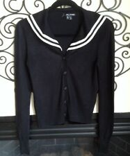 hell bunny size small sailor pin up black and white cardigan sweater