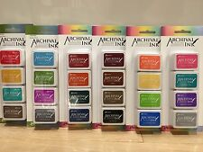 Ranger Mini Archival Ink Pads Kit (COMPLETE SET) with Wendy Vecchi FREE US SHIP