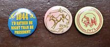 1844 1870 1874 Political Election Pinbacks Badge Campaign Republican Democrat