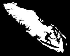 """VANCOUVER ISLAND SURFING  DECAL-white 7.5"""""""