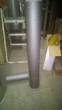 départ de tubage en acier 2mm gris, branchement au poele en d100, sortie en d150