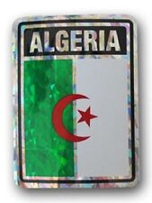 Wholesale Lot 12 Algeria Country Flag Reflective Decal Bumper Sticker