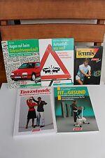 5 Bücher Falken Autounfall-was nun? Fitness Gebrauchtwagenkauf Tanzstunde Tennis
