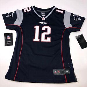 Nike New England Patriots Tom Brady Blue Jersey Youth Girls Medium
