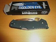 "Cold Steel Golden Eye: 3.5"" S-30Vn Blade, Tanto Folder, New in Box, Msrp $189."