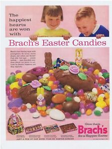 1963 Brach's Easter Candies jelly beans & chocolate Print Ad
