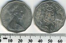 Australia 1971 - 50 Cents Copper-Nickel Coin - Elizabeth II - kangaroo & emu -#2