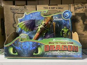 How To Train Your Dragon ERET & SKULLCRUSHER Figures Hidden World DreamWorks New