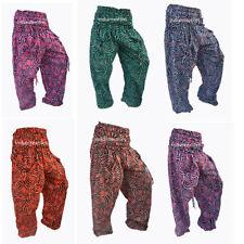 Indian Cotton Handmade Jalebi Print Yoga Pant Lot of 6 Men Women Harem Trouser