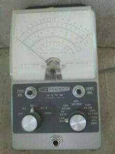 Vintage Heathkit VTVM IM-11--Vacuum Tube Voltmeter powers on