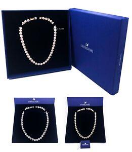 New Authentic Swarovski Rhodium Rose Gold Angelic Stone Sparkle Shine Necklace