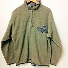 Vintage Patagonia Synchilla Men's Gray Snap -T Fleece Pullover Jacket Size L