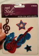 Music guitar  style Patch  Iron - on applique