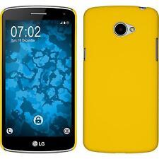 Custodia Rigida LG K5 - gommata giallo + pellicola protettiva