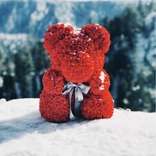 Artificial Rose Flowers Teddy Bear 25cm/40cm Valentine's Day Kids Birthday Gifts