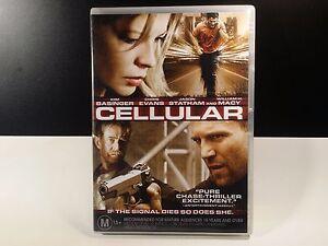 Cellular - DVD - KIDNAPPER MOVIE - Kim Basinger - Chris Evans - Jason Statham R4