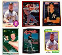(6) Mark McGwire Odd-Ball Baseball Card Lot Oakland Athletics
