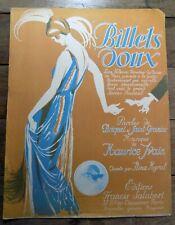 FOX TROT BILLETS DOUX MAURICE IVAIN  NINA MYRAL SHIMMY PARTITION c.1920