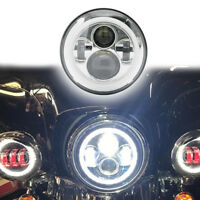 7'' INCH chrome Motorcycle DRL Turn Signal LED Headlight for harley