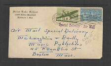 1946 SAINT LUKE SCHOOL LAKEWOOD OH SPECIAL DELIVERY Front ONLY ADVERTISING COVER