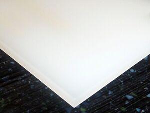 "1/8"" (3mm) Transparent Milky White Acrylic Plexiglas Sheet 12x12"" Plastic AZM"