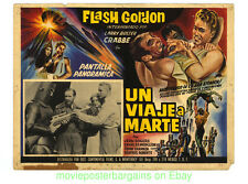 FLASH GORDON  TRIP TO MARS LOBBY CARD #2 Mexican  Re-release BUSTER CRABBE