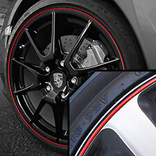 Wheel Band Rim Protector for Porsche Macan | Black / Red